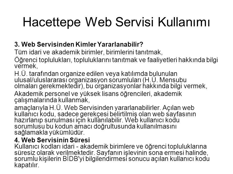 Hacettepe Web Servisi Kullanımı