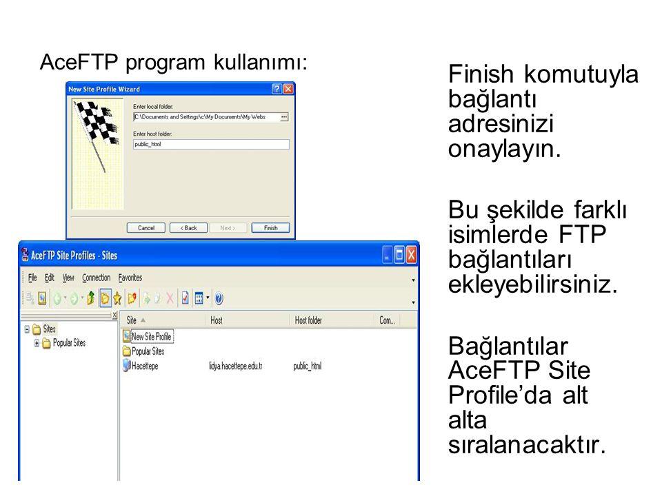 AceFTP program kullanımı: