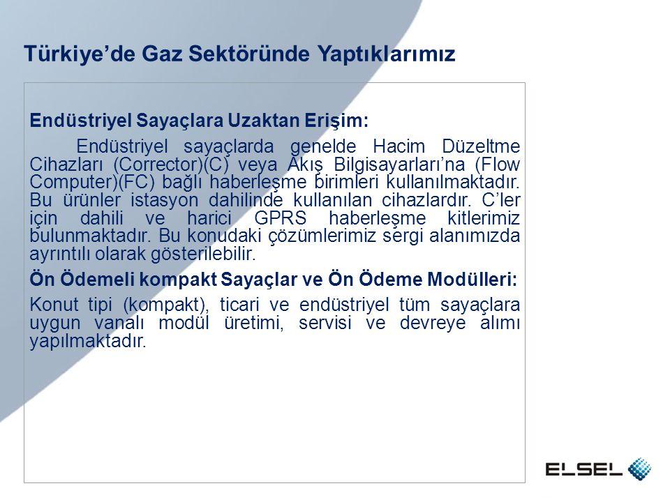 Türkiye'de Gaz Sektöründe Yaptıklarımız