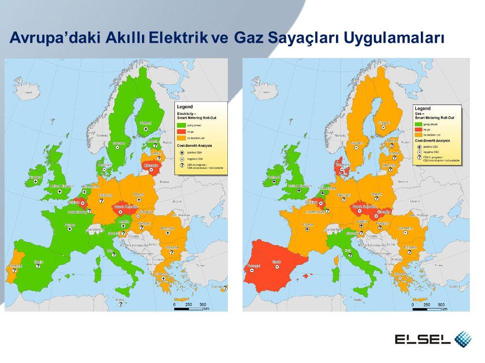 Avrupa'daki Akıllı Elektrik ve Gaz Sayaçları Uygulamaları