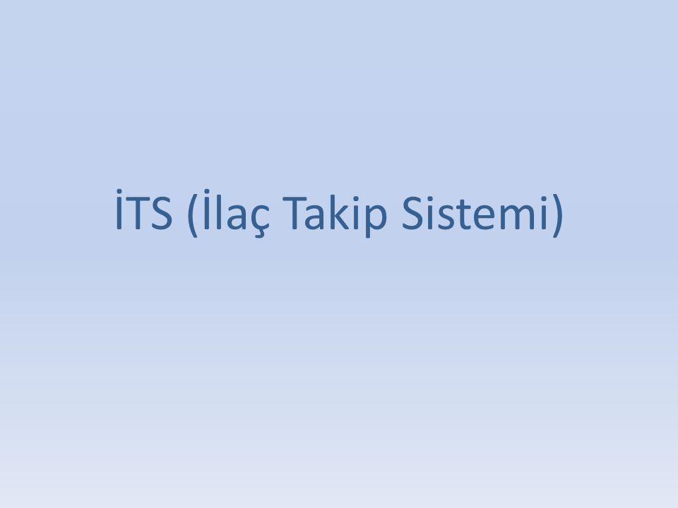 İTS (İlaç Takip Sistemi)