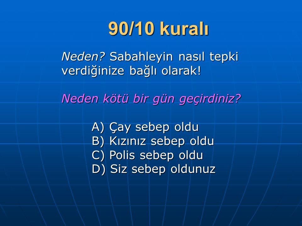 90/10 kuralı Neden Sabahleyin nasıl tepki verdiğinize bağlı olarak!