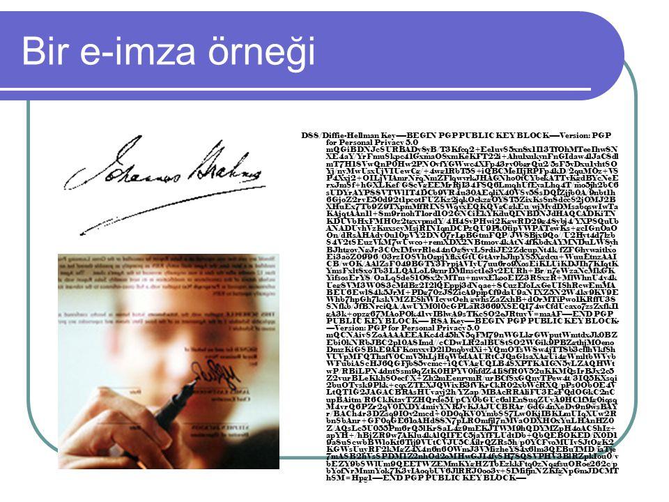 Bir e-imza örneği