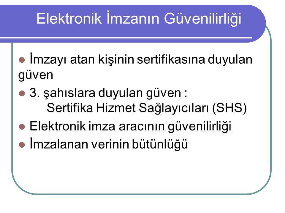 Elektronik İmzanın Güvenilirliği
