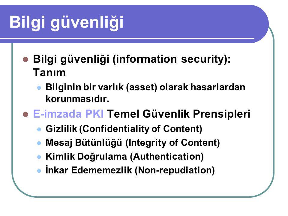 Bilgi güvenliği Bilgi güvenliği (information security): Tanım