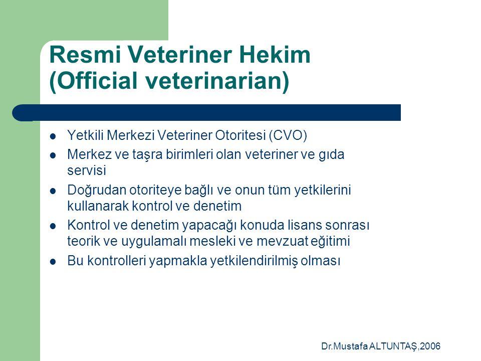 Resmi Veteriner Hekim (Official veterinarian)