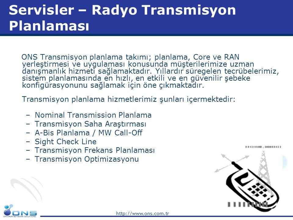 Servisler – Radyo Transmisyon Planlaması