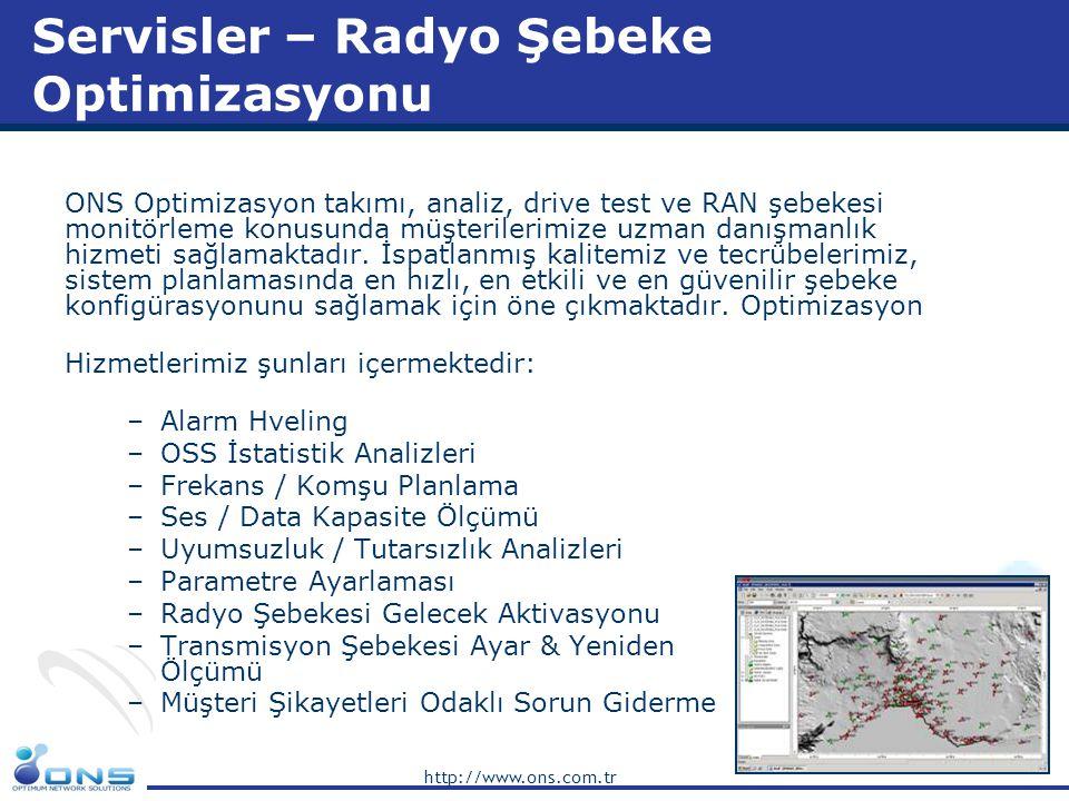 Servisler – Radyo Şebeke Optimizasyonu
