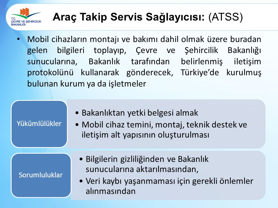 Araç Takip Servis Sağlayıcısı: (ATSS)