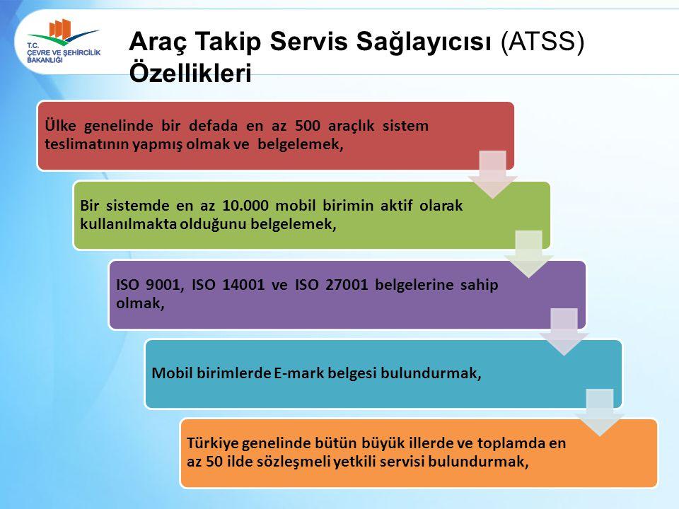 Araç Takip Servis Sağlayıcısı (ATSS) Özellikleri