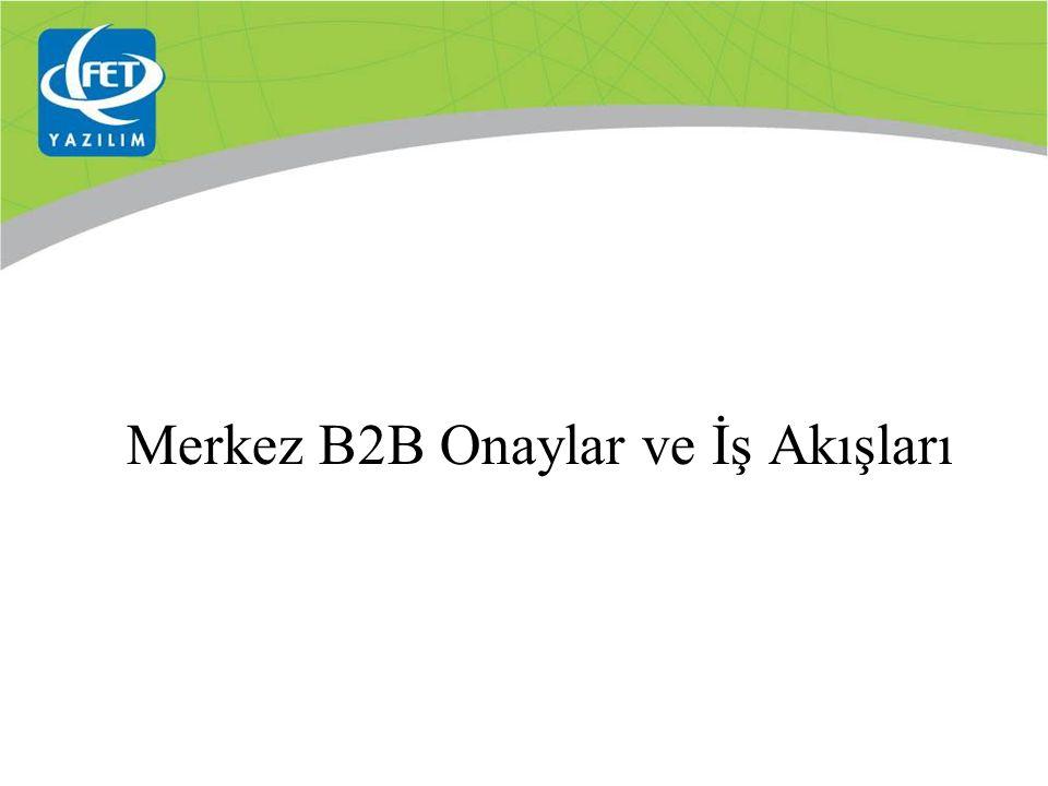 Merkez B2B Onaylar ve İş Akışları