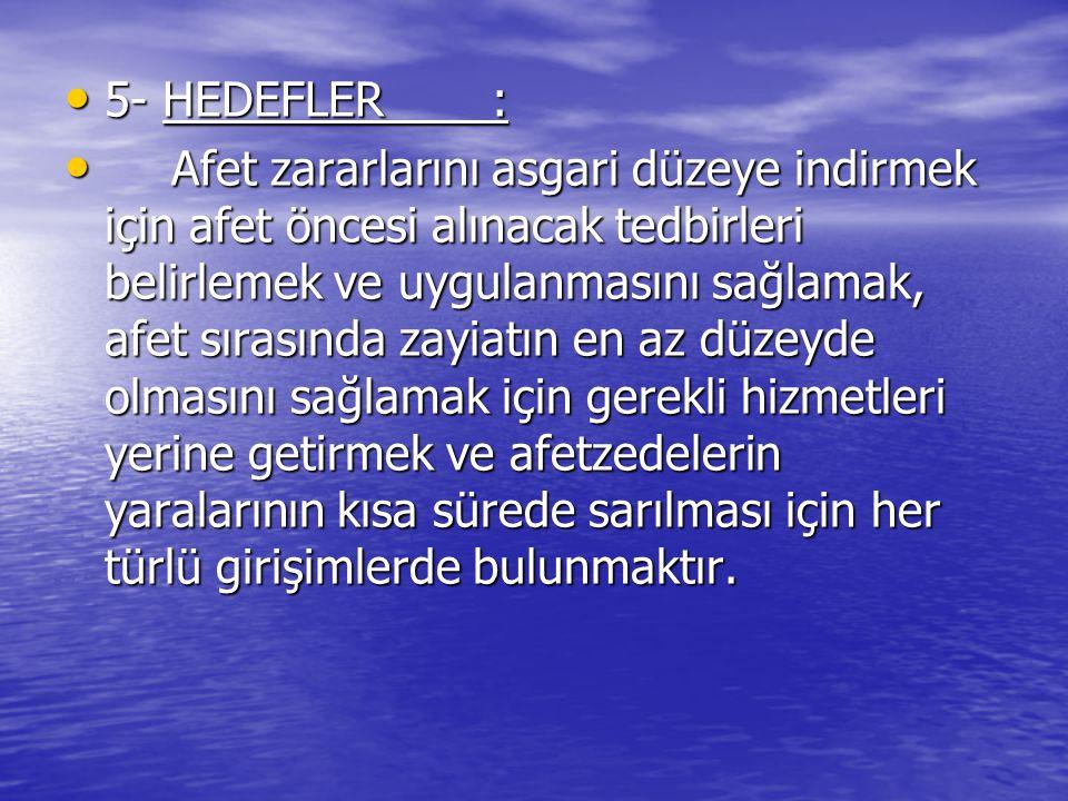 5- HEDEFLER :