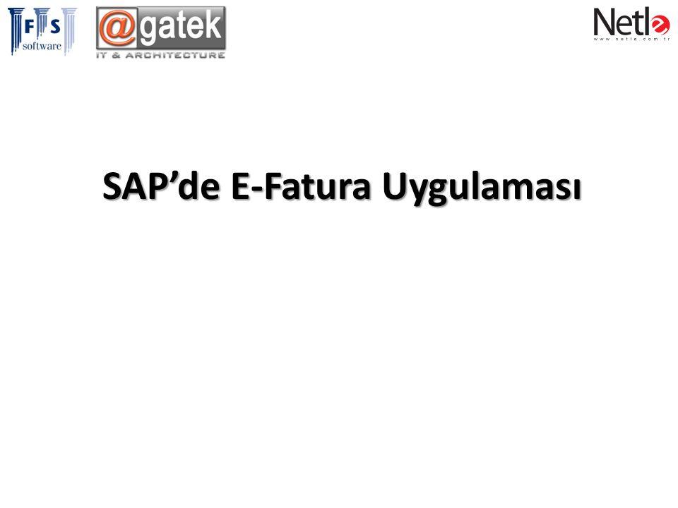 SAP'de E-Fatura Uygulaması