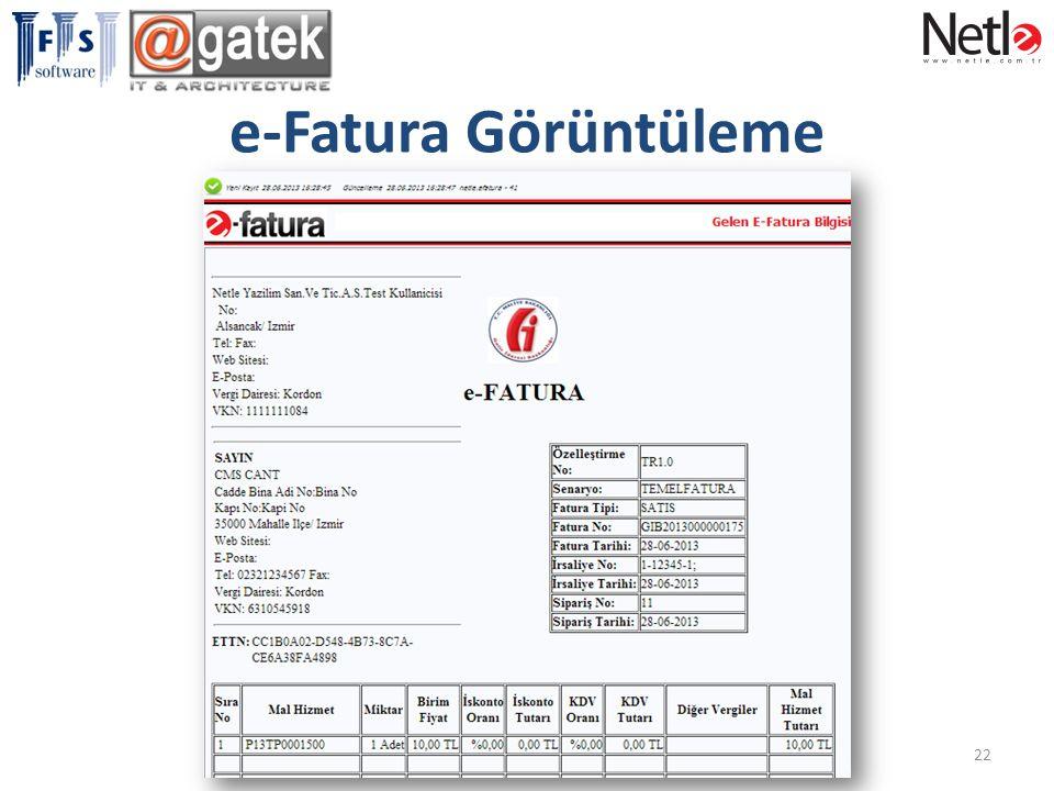 e-Fatura Görüntüleme
