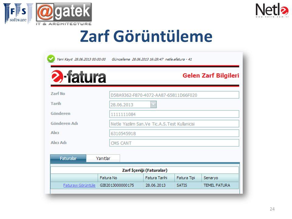 Zarf Görüntüleme