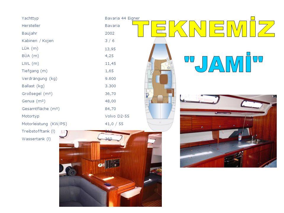 TEKNEMİZ JAMİ Yachttyp Bavaria 44 Eigner Hersteller Bavaria Baujahr