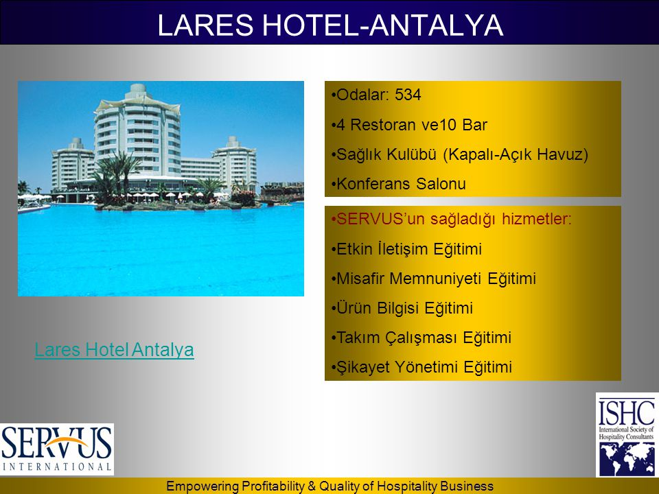 LARES HOTEL-ANTALYA Lares Hotel Antalya Odalar: 534