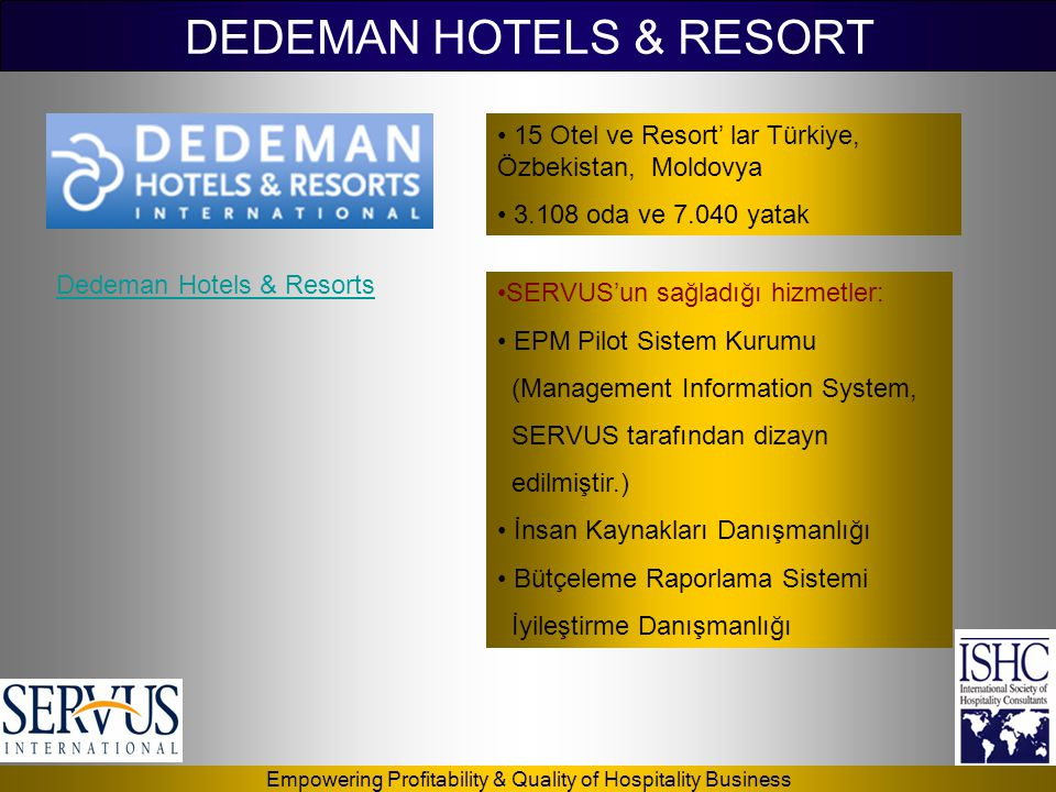 DEDEMAN HOTELS & RESORT