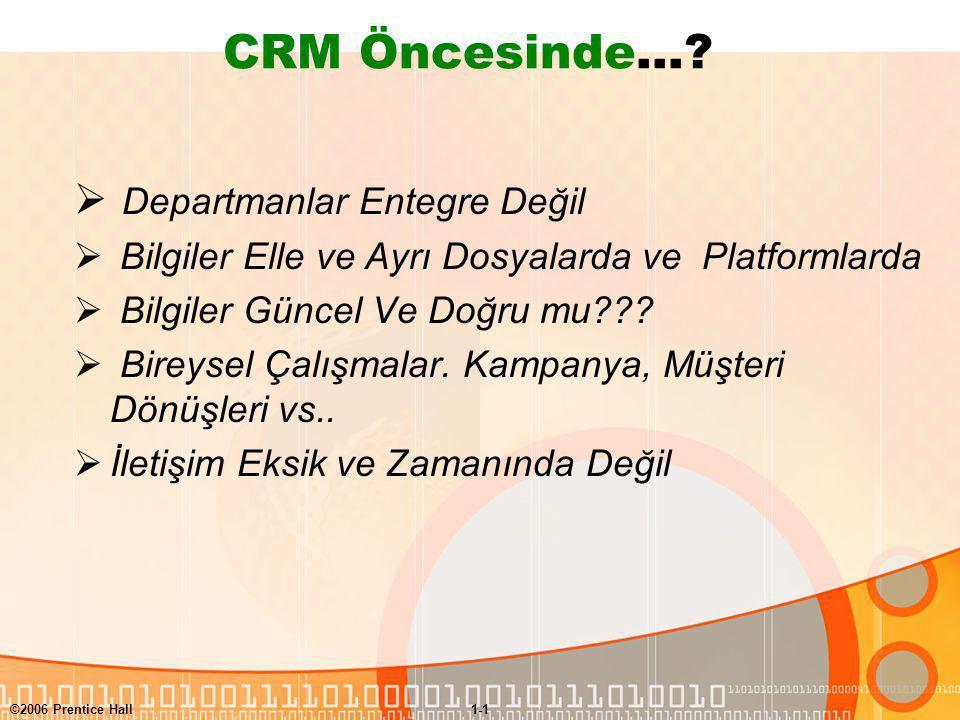 CRM Öncesinde… Departmanlar Entegre Değil