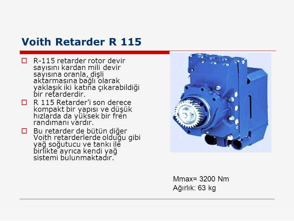 Voith Retarder R 115 Mmax= 3200 Nm Ağırlık: 63 kg