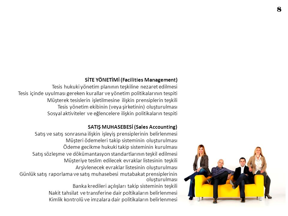 8 SİTE YÖNETİMİ (Facilities Management)
