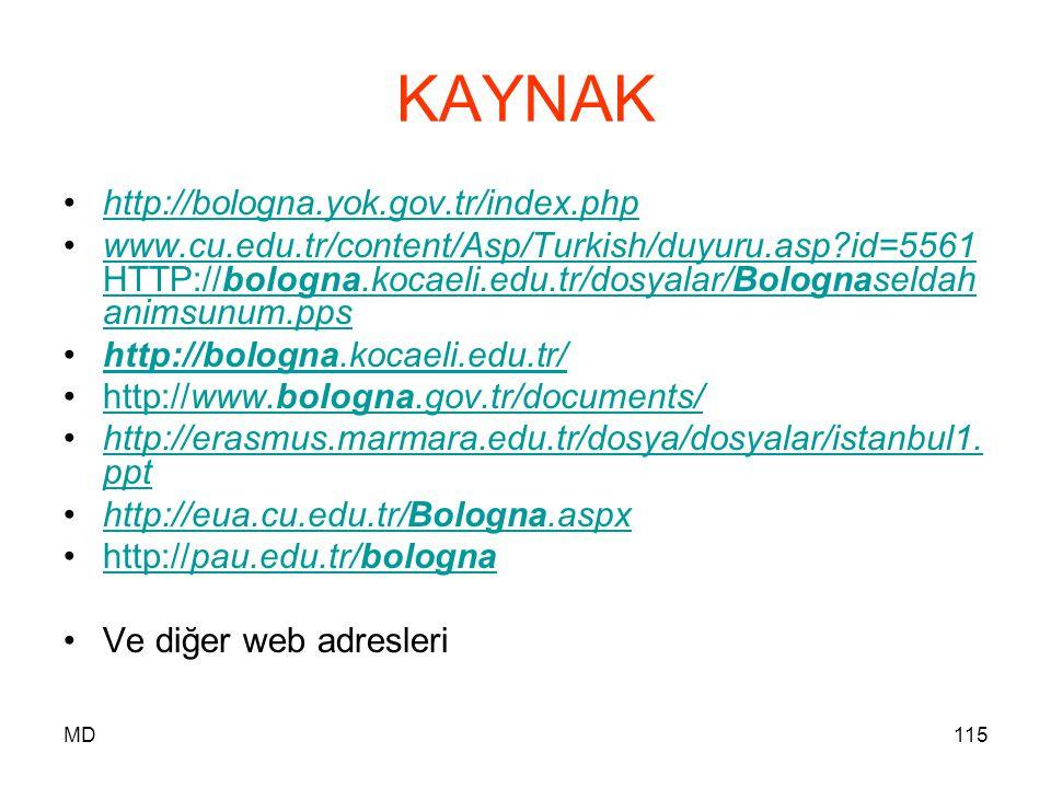 KAYNAK http://bologna.yok.gov.tr/index.php
