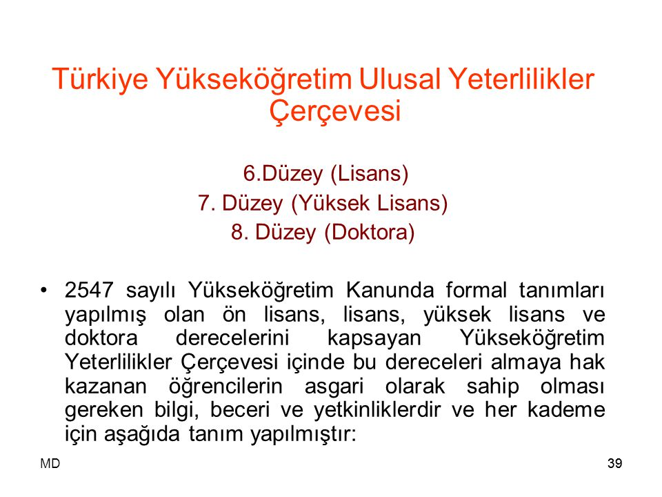 Türkiye Yükseköğretim Ulusal Yeterlilikler Çerçevesi