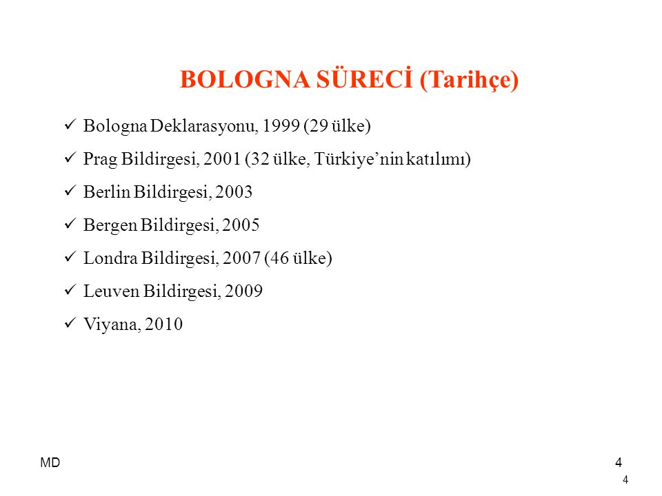 BOLOGNA SÜRECİ (Tarihçe)
