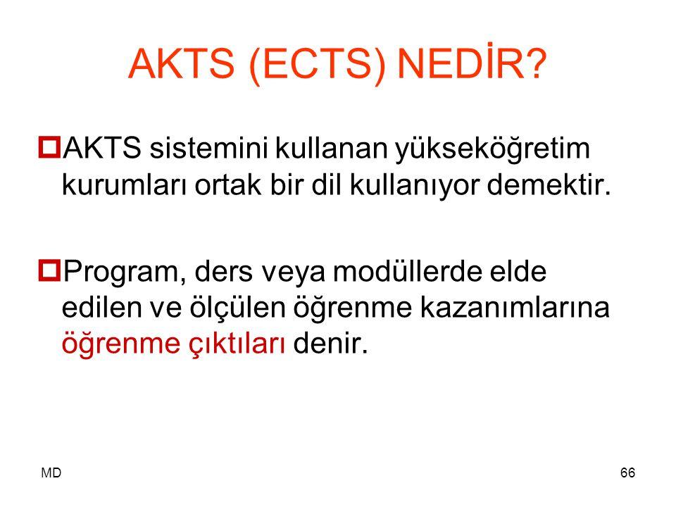 AKTS (ECTS) NEDİR AKTS sistemini kullanan yükseköğretim kurumları ortak bir dil kullanıyor demektir.