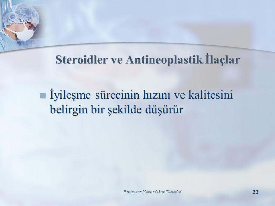 Steroidler ve Antineoplastik İlaçlar