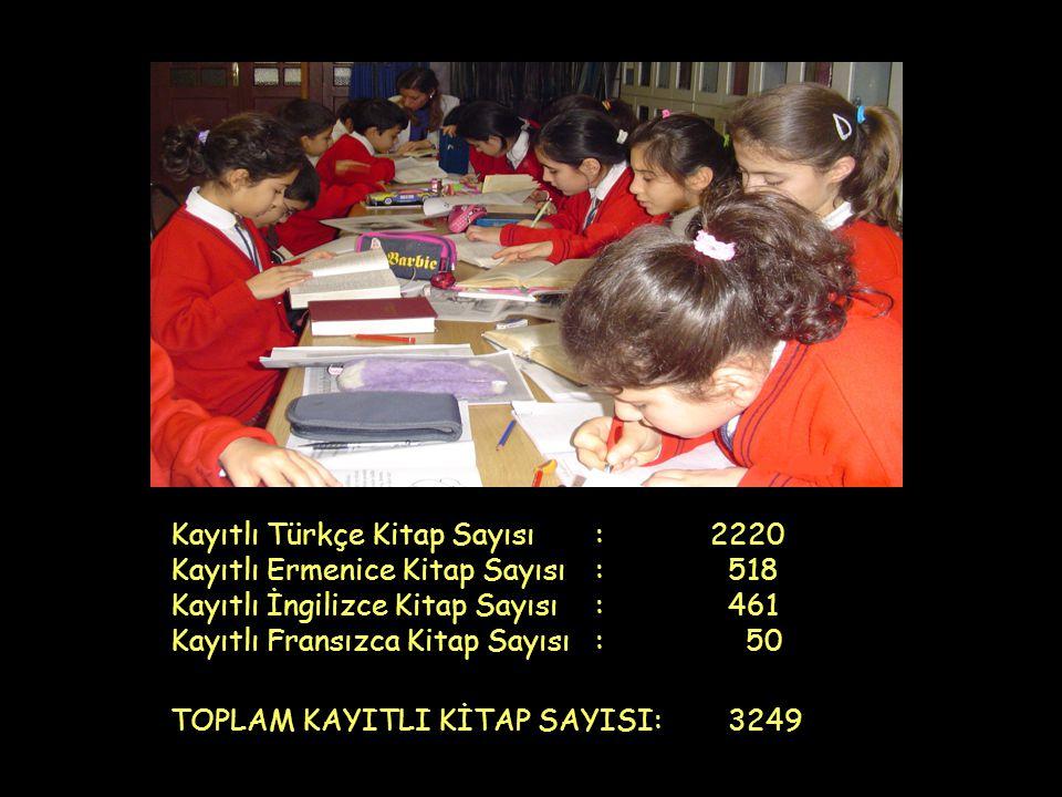 Kayıtlı Türkçe Kitap Sayısı : 2220