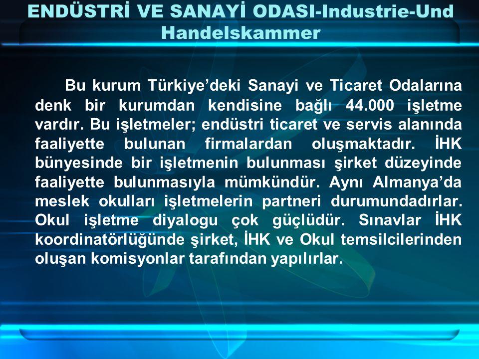 ENDÜSTRİ VE SANAYİ ODASI-Industrie-Und Handelskammer