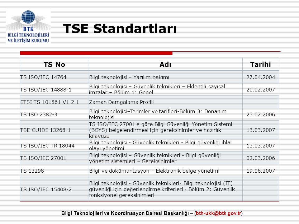 TSE Standartları TS No Adı Tarihi TS ISO/IEC 14764