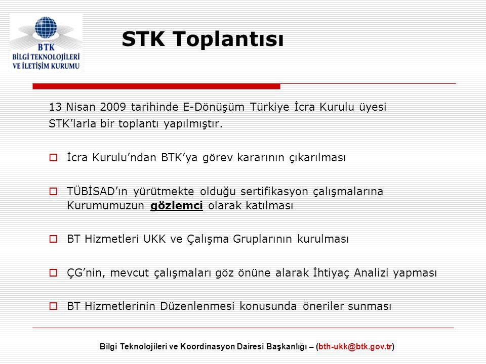 STK Toplantısı 13 Nisan 2009 tarihinde E-Dönüşüm Türkiye İcra Kurulu üyesi. STK'larla bir toplantı yapılmıştır.
