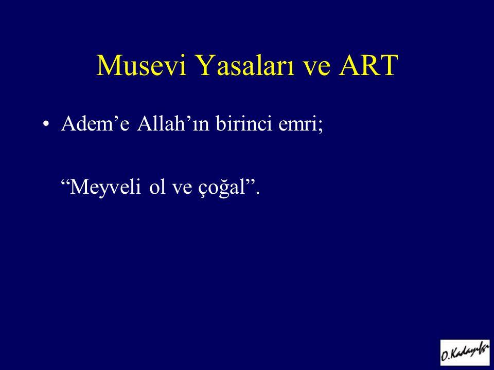 Musevi Yasaları ve ART Adem'e Allah'ın birinci emri;