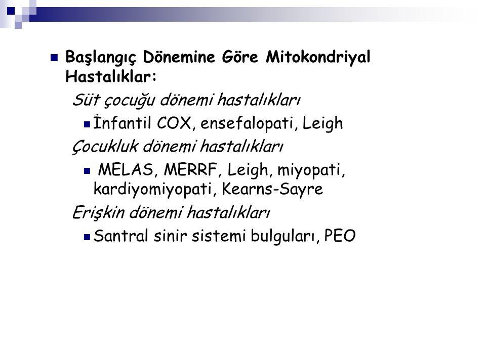 Başlangıç Dönemine Göre Mitokondriyal Hastalıklar: