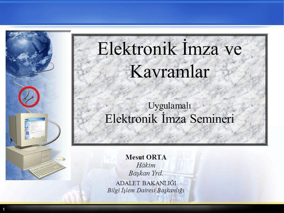 Elektronik İmza ve Kavramlar
