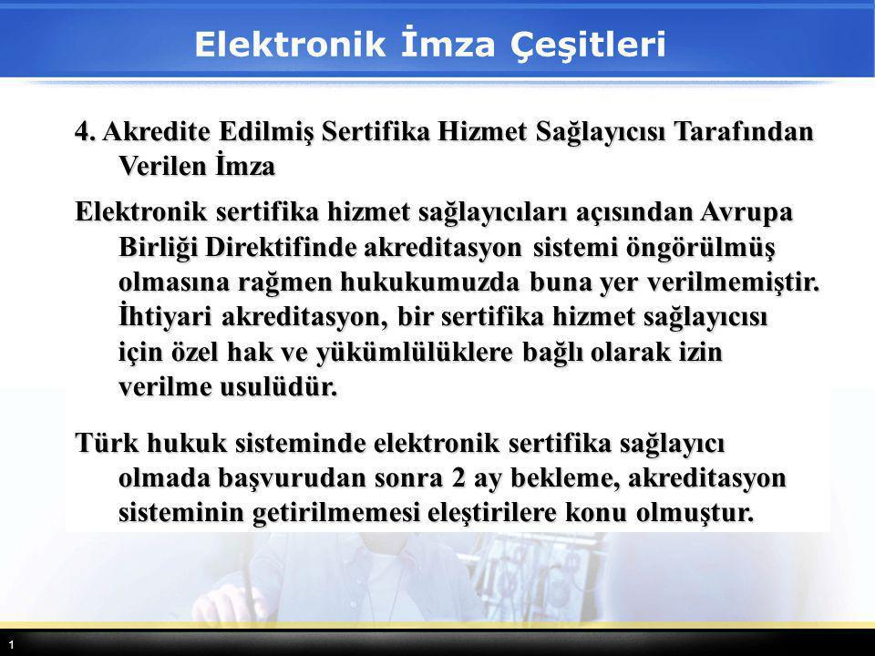 Elektronik İmza Çeşitleri
