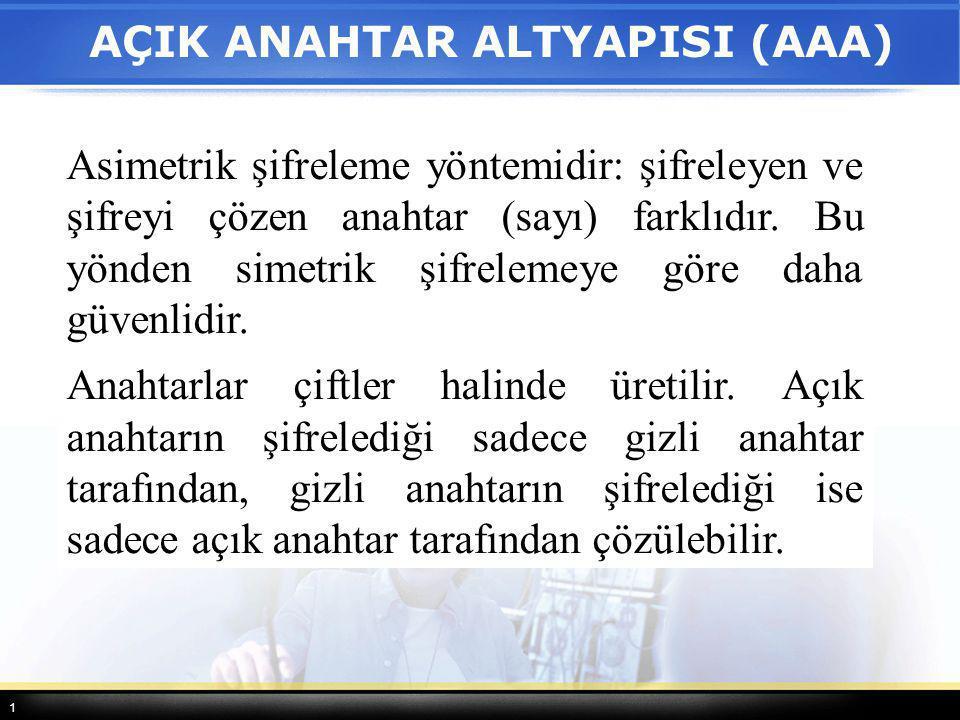 AÇIK ANAHTAR ALTYAPISI (AAA)