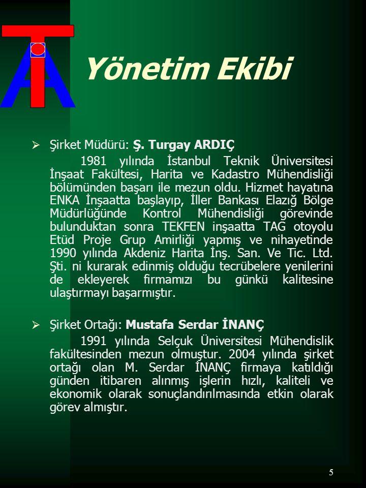 Yönetim Ekibi Şirket Müdürü: Ş. Turgay ARDIÇ