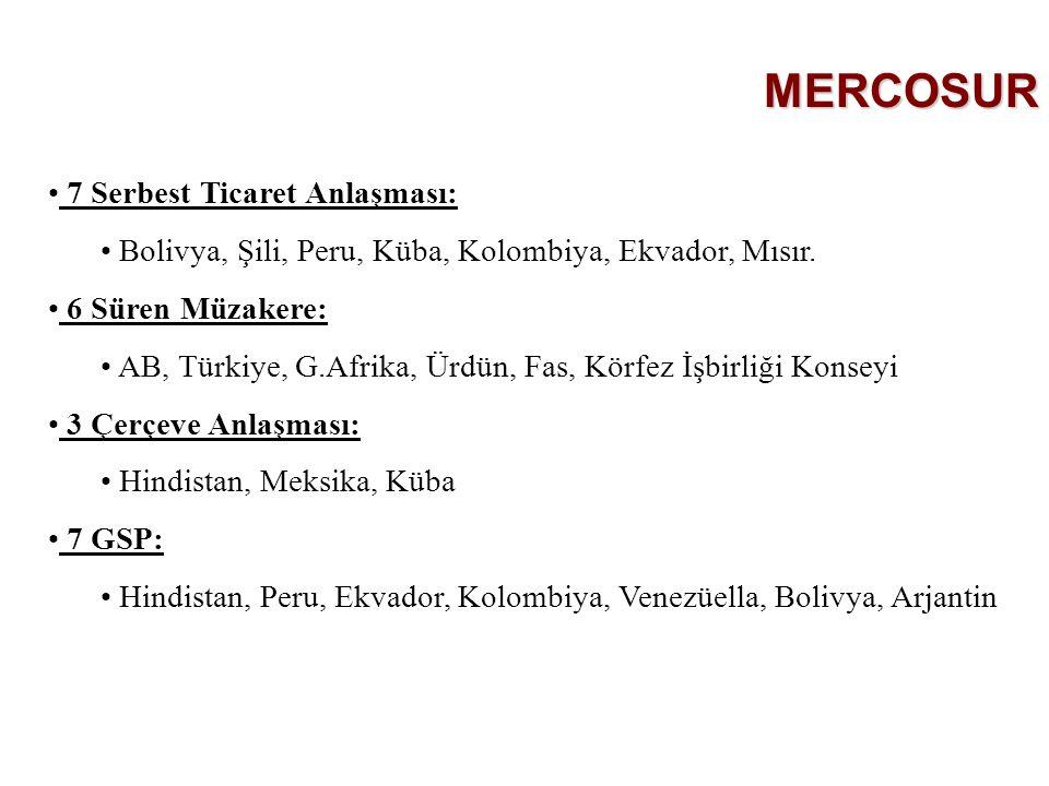 MERCOSUR 7 Serbest Ticaret Anlaşması: