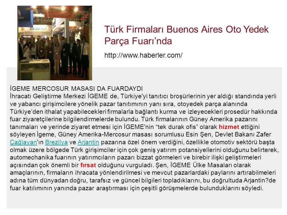Türk Firmaları Buenos Aires Oto Yedek Parça Fuarı'nda