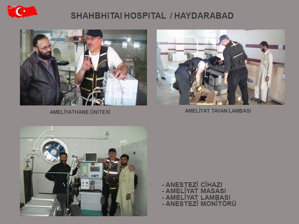 SHAHBHITAI HOSPITAL / HAYDARABAD AMELİYAT TAVAN LAMBASI