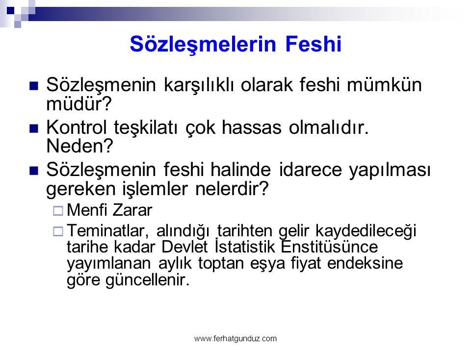 Sözleşmelerin Feshi Sözleşmenin karşılıklı olarak feshi mümkün müdür
