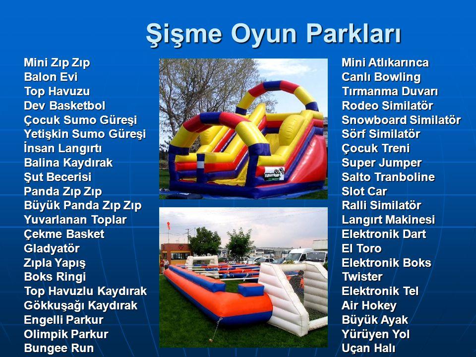Şişme Oyun Parkları Mini Zıp Zıp Balon Evi Top Havuzu Dev Basketbol