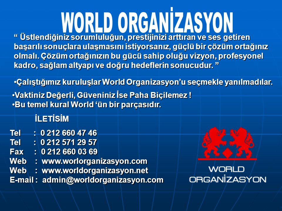 WORLD ORGANİZASYON