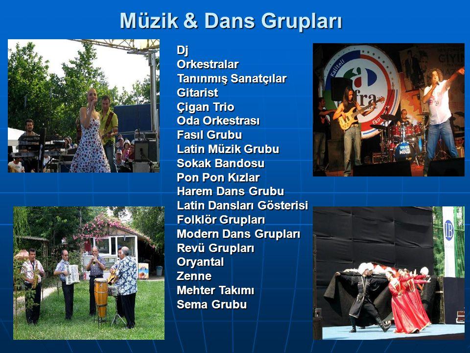 Müzik & Dans Grupları Dj Orkestralar Tanınmış Sanatçılar Gitarist
