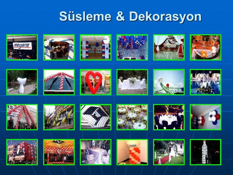 Süsleme & Dekorasyon WORLD ORGANİZASYON 0 532 665 58 57