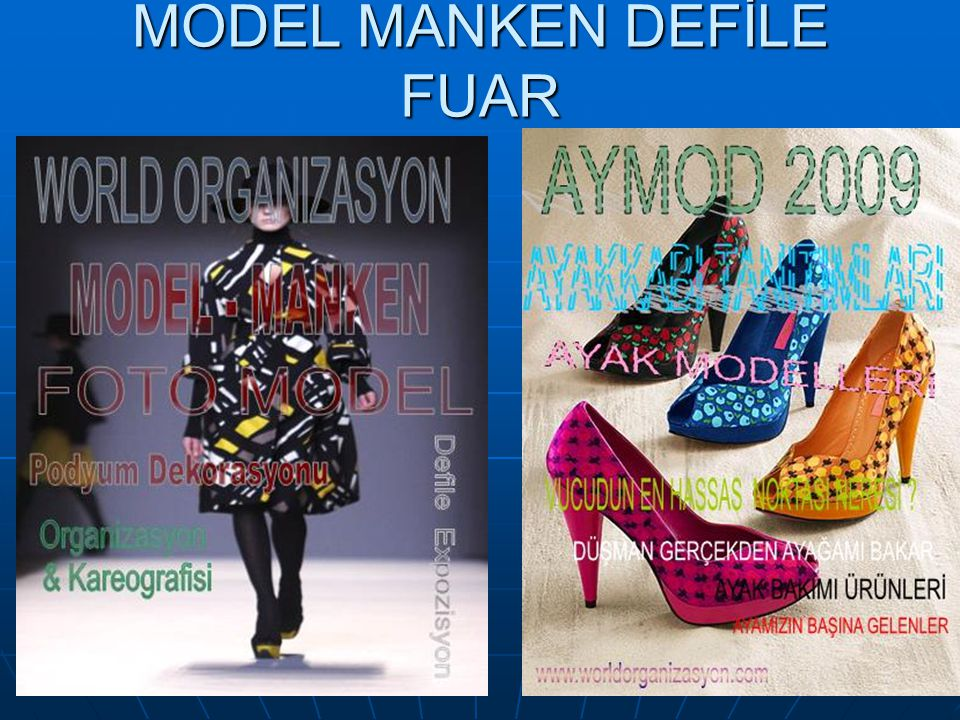 MODEL MANKEN DEFİLE FUAR