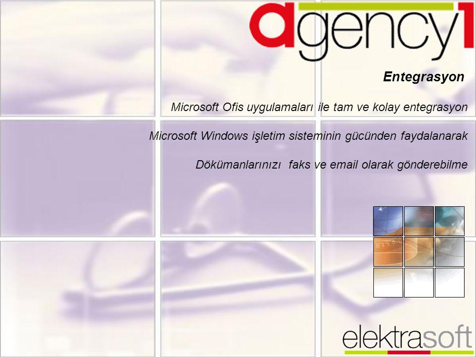 Entegrasyon Microsoft Ofis uygulamaları ile tam ve kolay entegrasyon